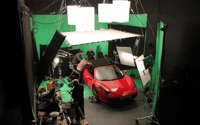 Shooting a car on Green Screen