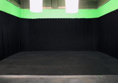 studio space black drapes