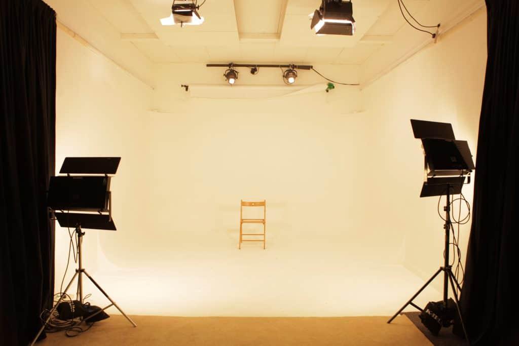 white studio space