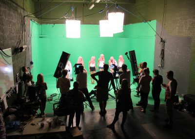 X-Factor production in our greenscreen studio space
