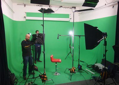 greenscreen studio set up in studio 2