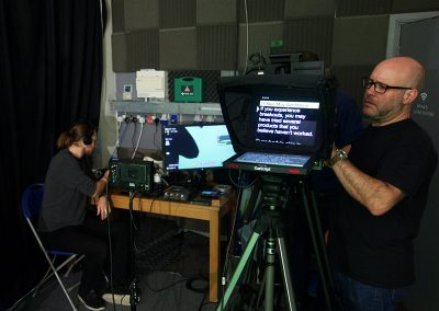 autocue behind the scenes