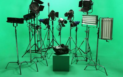 Lighting Greenscreen Studio Space