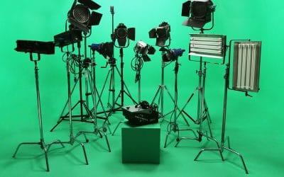 Lighting Greenscreen Studio Space