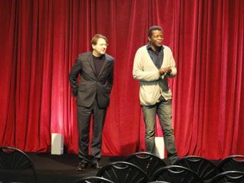 Stephen K Amos on stage