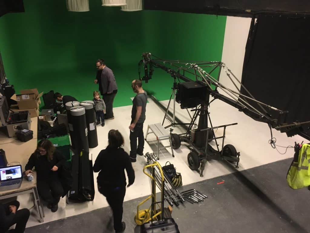 crane being used in studio 1