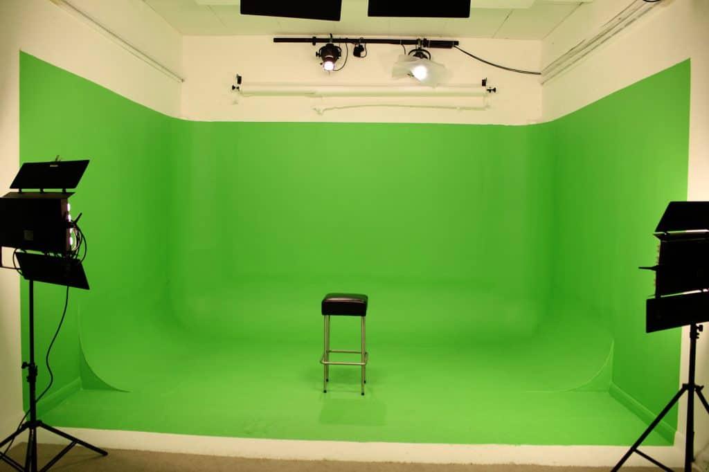 empty greenscreen Studio 2