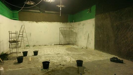 film-studio being refurbished