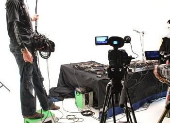 soundman on film set