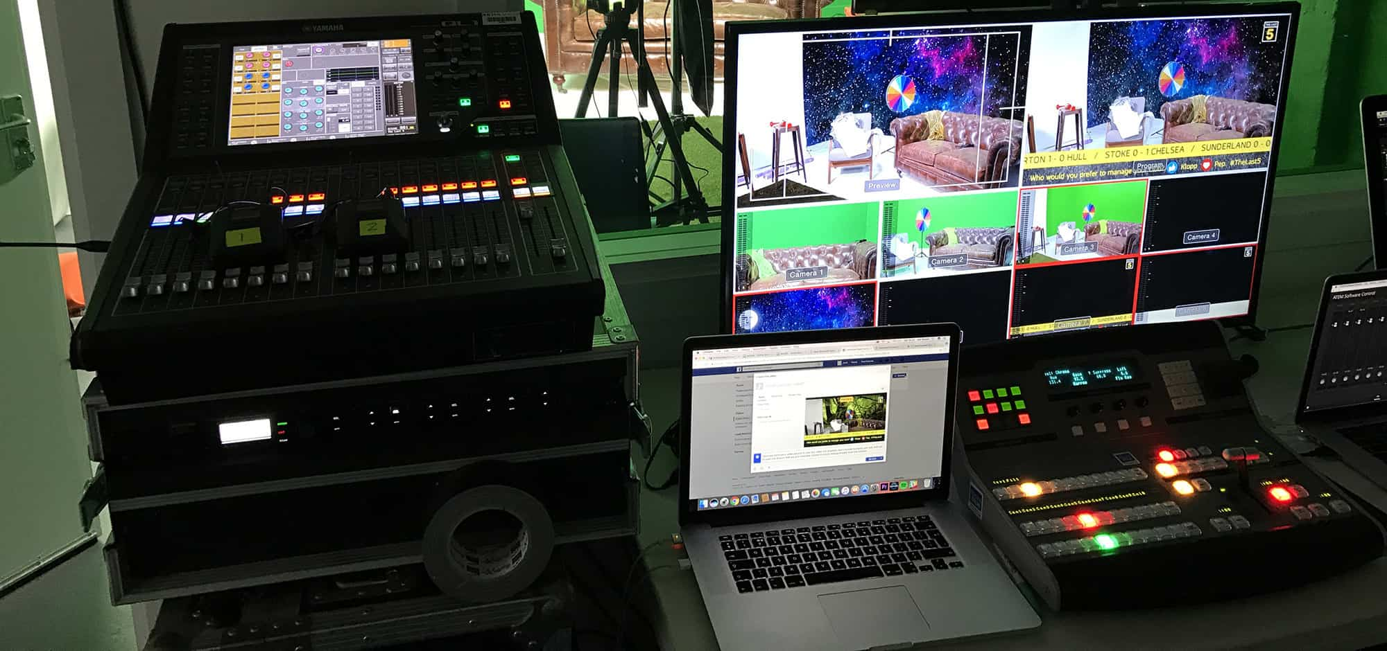livestreaming in camberwell studios