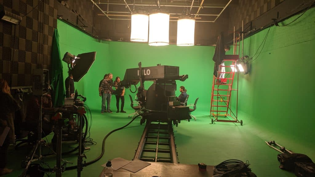 motion control set up in studio 1